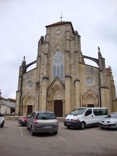 Belmont-de-la-Loire_(Loire,_Fr)_église,_façade